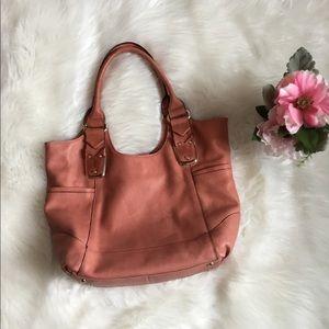 B. MAKOWSKI Coral Leather Shoulder Bag
